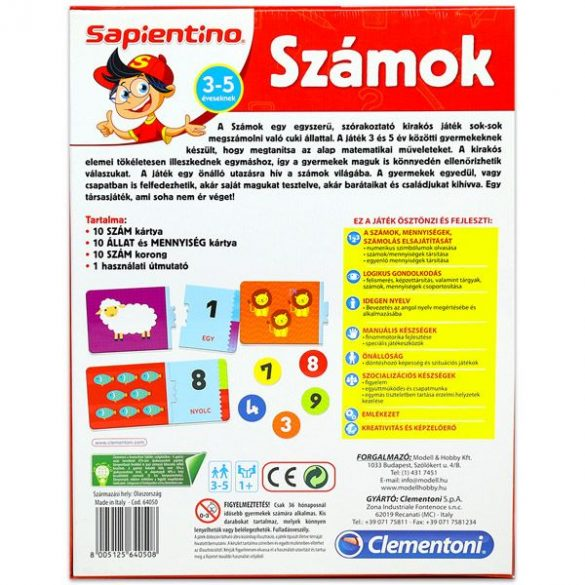 Sapientino Számok - fejlesztő társasjáték