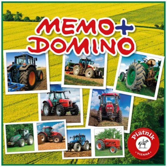 Piatnik Memo-Domino társasjáték - TRAKTOROK