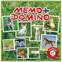 Piatnik Memo-Domino társasjáték - ÁLLATKÖLYKÖK