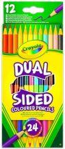 Crayola - Kétvégű színesceruza 12db