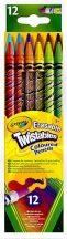 Crayola - Csavarozható színes ceruza 12