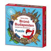 Brúnó Budapesten kör puzzle (121 db)