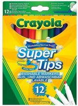 Crayola - lemosható, vékony filctoll - 12 db
