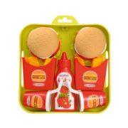 Écoiffier Hamburger szett tálcával