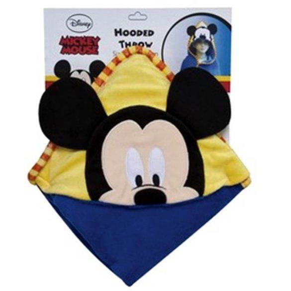 Mickey egeres kapucnis plüss takaró 100x100 cm