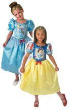Disney hercegnők gyerek jelmez - Hamupipőke és Hófehérke (L-es méret, 128 cm)