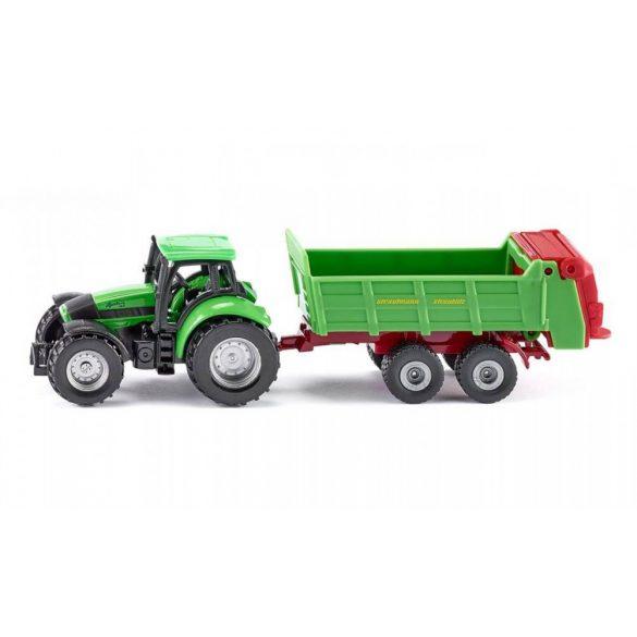 SIKU 1673 Deutz traktor univerzális utánfutóval