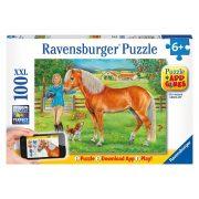 Ravensburger 13663 XXL puzzle - Kedvenc lovam (100 db-os)
