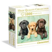 Clementoni 96502 High Quality Collection puzzle négyzet alakú dobozban - Labrador kölykök (1000 db)