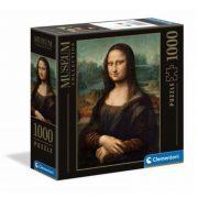 Clementoni 98308 Museum Collection Puzzle négyzet alakú dobozban - Leonardo Da Vinci, Mona Lisa (1000 db)