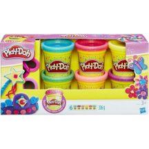 Play-Doh Csillámos gyurmaszett (6 db kis tégelyes gyurmával)
