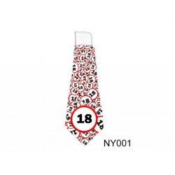 Születésnap 18 karikás - nyakkendő