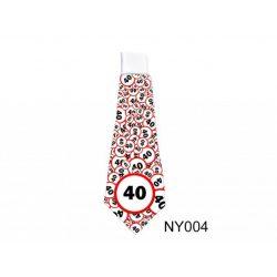 Születésnap 40 karikás - nyakkendő