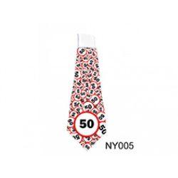Születésnap 50 karikás - nyakkendő