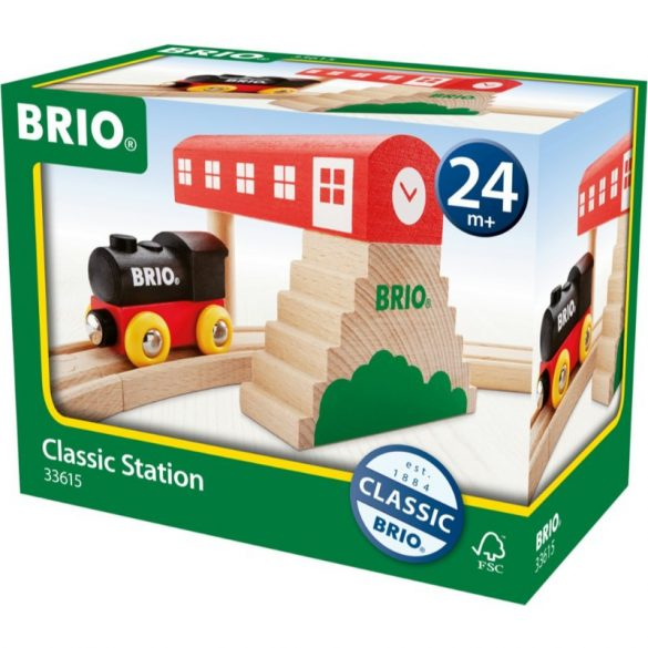 Brio 33615 Klasszikus vasútállomás szett