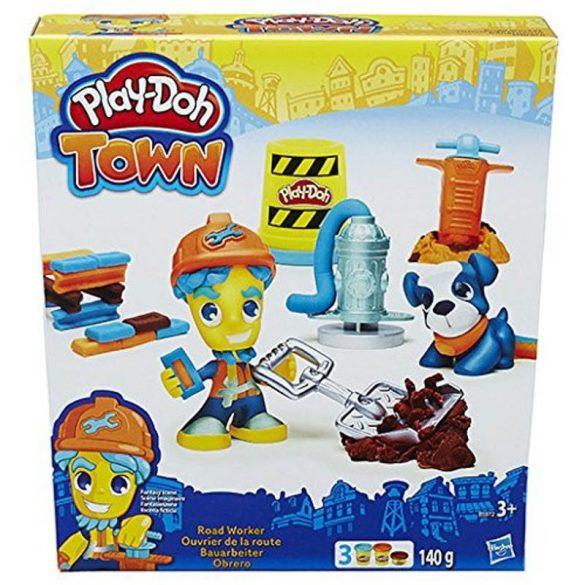 Play-Doh Town - ÚTÉPÍTÉS gyurmakészlet