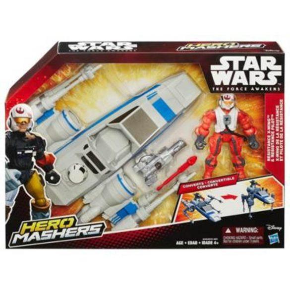 Star Wars Az ébredő erő támadó járművek figurával - ELLENÁLLÁS OLDALI X-SZÁRNYÚ HARCI HAJÓ PILÓTÁVAL