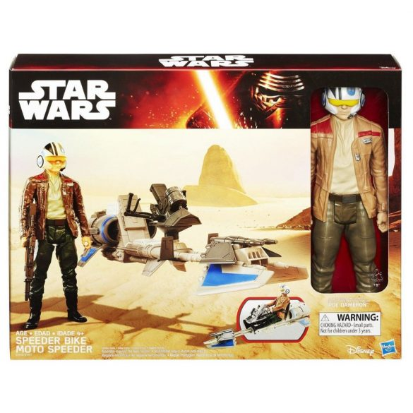 Star Wars Hero Seria figura és jármű SPEEDER BIKE POE DAMERON