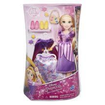 Disney Hercegnők: Aranyhaj színváltós hajú baba