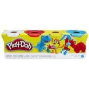 Play-Doh 4 db-os gyurma - FEHÉR, PIROS, CITROMSÁRGA, VILÁGOSKÉK