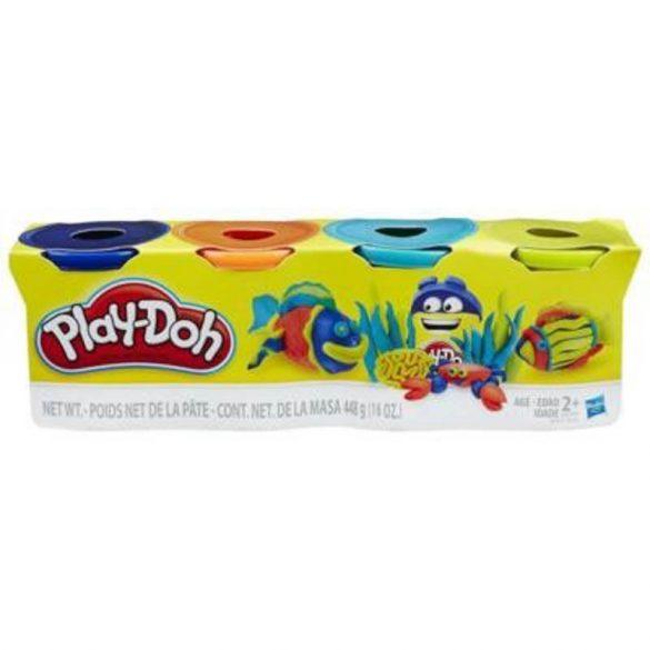 Play-Doh 4 db-os gyurma - SÖTÉTKÉK, NARANCSSÁRGA, VILÁGOSKÉK, CITROMSÁRGA
