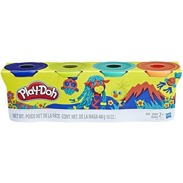 Play-Doh 4 db-os gyurmaszett (sötétkék, zöld, türkiz, narancssárga)
