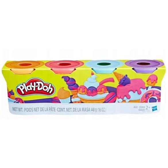 Play-Doh 4 db-os gyurmaszett (narancssárga, pink, világoskék, lila)