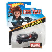 Hot Wheels MARVEL Amerika Kapitány Karakter kisautók - BLACK WIDOW