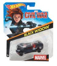 Hot Wheels MARVEL Amerika Kapitány Karakter kisautók - BLACK WIDOW