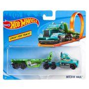 Hot Wheels Track Stars szállítóautó - Hitch N' Haul (zöld)