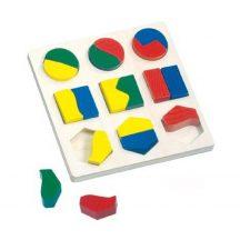 Bino 84029 Geometriai fa puzzle párosító (18 db-os)