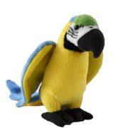 Kék-sárga papagáj plüss figura (15 cm)