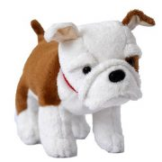 Bulldog plüss figura (15 cm)