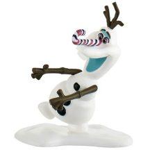 Bullyland játék figura 12942 Jégvarázs: Olaf karácsonyi kalandja - OLAF NYALÓKA ORRAL