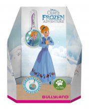 Bullyland játék figura díszdobozban 13431 Jégvarázs: Olaf karácsonyi kalandja - ANNA FÜGGŐBIZSUVAL