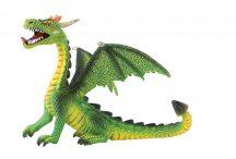 Bullyland játék figura 75593 Ülő sárkány (zöld)