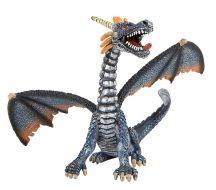 Bullyland játék figura 75594 Ülő sárkány (kék-ezüst)