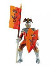 Bullyland játék figura 80782 - Sárkányos zászlóvivő (piros)