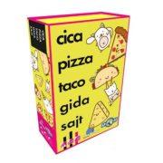 Cica, pizza, taco, gida, sajt kártyajáték