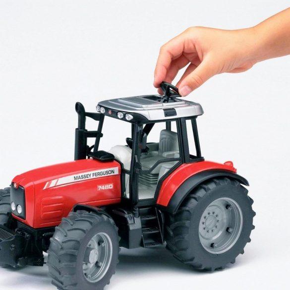 Bruder 02045 Massey Ferguson 7480 traktor billenős pótkocsival