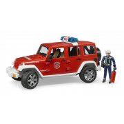 Bruder 02528 Jeep Wrangler Unlimited Rubicon tűzoltóautó tűzoltóval