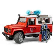 Bruder 02596 Land Rover tűzoltóautó tűzoltó figurával