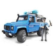 Bruder 02597 Land Rover Defender rendőrautó rendőr figurával