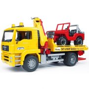 Bruder 02750 MAN autószállító teherautó terepjáróval