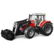 Bruder 03047 Massey Ferguson 7600 traktor homlokrakodóval