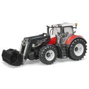 Bruder 03181 Steyr 6300 Terrus CVT traktor homlokrakodóval