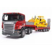 Bruder 03555 Scania-R teherautó és CAT bulldózer