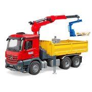Bruder 03651 Mercedes-Benz Arocs építőipari teherautó daruval, markolóval, palettával