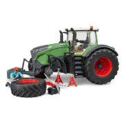 Bruder 04041 Fendt 1050 Vario traktor munkással és szervizberendezéssel