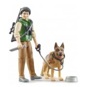Bruder 62660 Bworld Erdész figura kutyával
